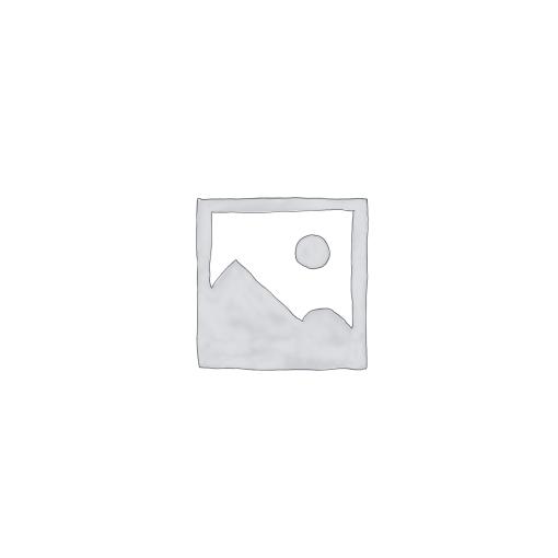 Ékszertartó baba 10x33cm,piros fehér pöttyös, rózsával, műanyag/fém
