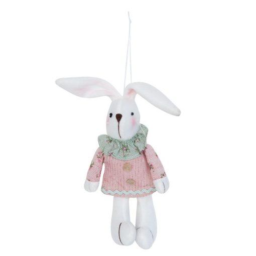 Textilnyuszi 11x5x22cm,rózsaszín ruhás