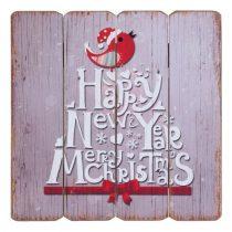 Fa falikép 40x40cm,Happy New Year Merry Christmas