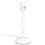 Fa lámpatest fehér 10x24cm,szives