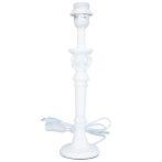 Fa lámpatest rózsás fehér,10x10x37cm