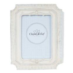 CLEEF.2F0344 Képkeret műanyag 22x17cm,krém