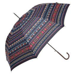 Esernyő 98x55cm,sötétkék-szines virágos