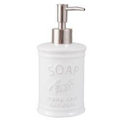 Kerámia folyékonyszappan-adagoló 8x18cm,fehér,Soap