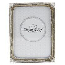 CLEEF.2F0515L Képkeret műanyag 14x19cm/15x18cm ezüst, bogyós díszítéssel