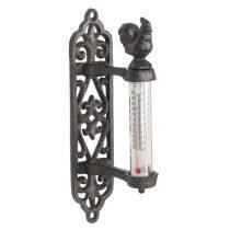 CLEEF.6Y3002 Fém falihőmérő kakasos 5x8x21cm