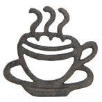 Öntöttvas edényalátét kávéscsészés 19x18x2cm,barna