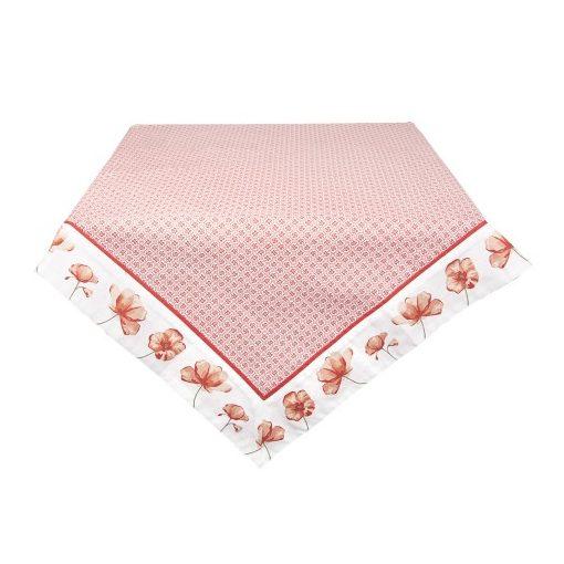 Asztalterítő 100x100cm pamut,Poppy Flowers
