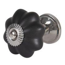 CLEEF.64379 Ajtófogantyú 4cm kerámia,matt fekete