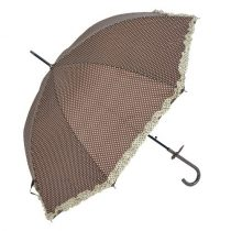 Esernyő 100cm, barna alapon fehér pöttyös