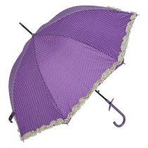 Esernyő 100cm, lila alapon fehér pöttyös