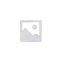 CLEEF.64468 Ékszertartó baba 11x8x32cm,fehér-arany pöttyös felsős,szürke-arany szoknyás műanyag/fém