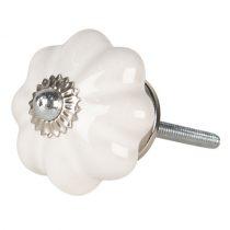 Ajtófogantyú 4x4cm kerámia fehér
