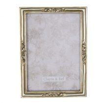 CLEEF.2F0668 Képkeret antikolt arany 14x19cm/13x18cm, műanyag
