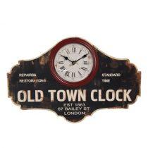 Falióra 50x3x33cm, fa, üveg előlappal, Old Town Clock
