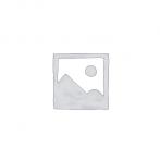 CLEEF.64673 Ékszertartó baba 10x8x32cm, műanyag/fém, szürke alapon fehér pöttyös ruha rózsával