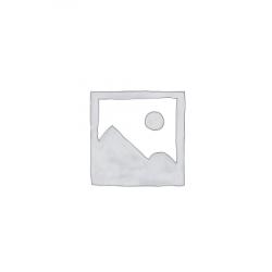 CLEEF.64678 Ékszertartó baba 10x8x32cm, műanyag/fém,fehér alapon világoskék pöttyös ruha