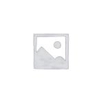 CLEEF.64676 Ékszertartó baba 10x8x32cm, műanyag/fém, kék alapon fehér pöttyös ruha