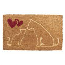 CLEEF.MC194 Lábtörlő kutyás-cicás kókusz-PVC 75x45x1cm