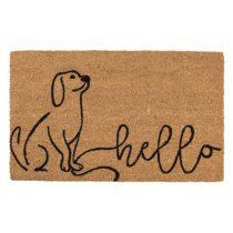 CLEEF.MC199 Lábtörlő 75x45x1cm, kókusz-PVC, kutyás Hello