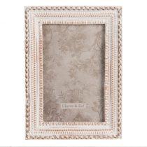 CLEEF.2F0804 Képkeret műanyag, 13x1x19cm/10x15cm, antik krém