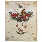 Karácsonyi mackó ajándék táska (20x25x10cm)
