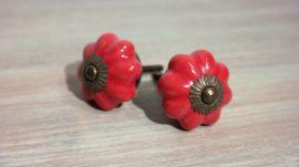 Piros fiókgomb 4 cm