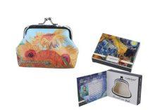 Műbőr pénztárca 9x7,5x2cm,Van Gogh:Napraforgók