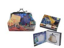 Műbőr pénztárca 9x7,5x2cm,Van Gogh:Kávéház Éjjel