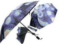 Esernyő összecsukható 55x95cm,Van Gogh:Csillagos éj
