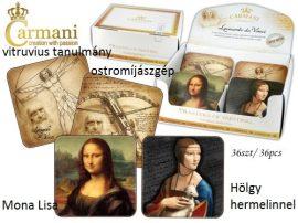 H.C.032-0504 Parafa poháralátét 10x10cm, Leonardo Da Vinci: Ostromíjászgép