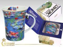 Porcelánbögre 350ml,Monet:Vízililiom