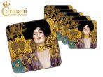 """H.C.532-1210 Parafa poháralátét 10x10cm,  Klimt: Judith """""""""""