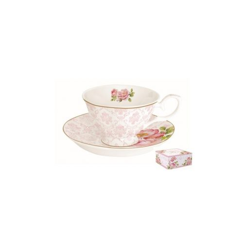 Porcelán teáscsésze dobozban