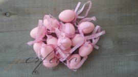 Szalagos rózsaszín tojás szett