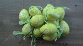 Szalagos nagy tojás szett zöld