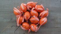 Szalagos narancsszín tojás szett
