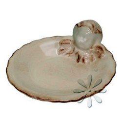 V.K.04-06-01 Angyalkás tálka,kerámia,kézzel festett