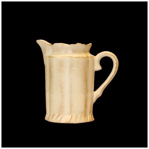 Romantik tejkiöntő,natúr,kerámia,kézzel festett