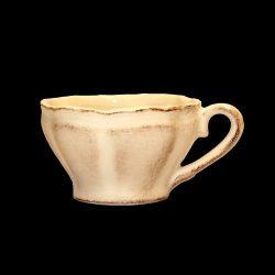Romantik teáscsésze, natúr,kerámia,kézzel festett