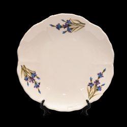 V.K.28-08 Romantik festett desszerttányér,levendula,kerámia,kézzel festett