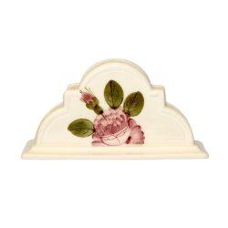 V.K.44-04 Romantik rózsás szalvétatartó,kerámia,kézzel festett