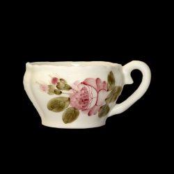 Romantik rózsás teáscsésze,kerámia,kézzel festett