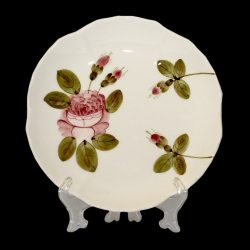 V.K.44-08 Romantik rózsás teásalj,kerámia,kézzel festett