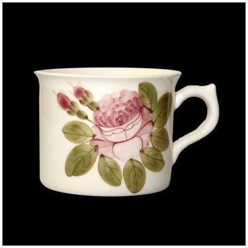 Romantik rózsás nagyibögre,kerámia,kézzel festett