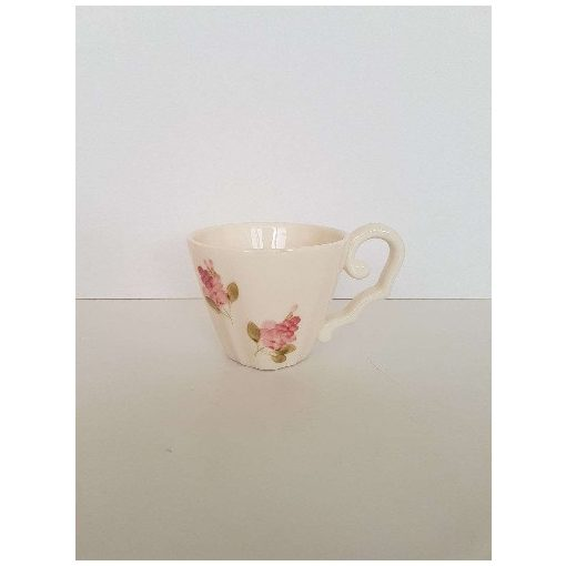 Violin rózsás kávéscsésze,kerámia,kézzel festett
