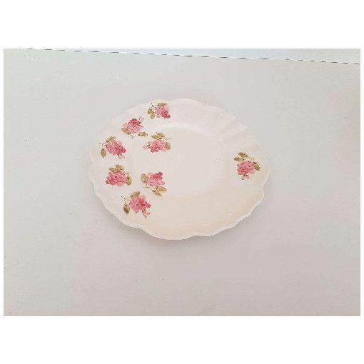 Violin rózsás desszerttányér,kerámia,kézzel festett
